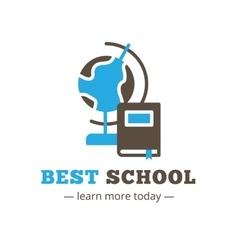 flat style education logo Study logotype vector image vector image
