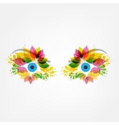 Floral eyes vector