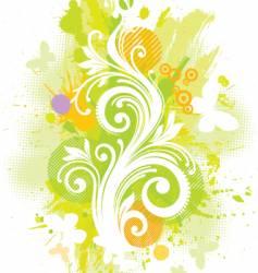 Floral grunge illustration vector