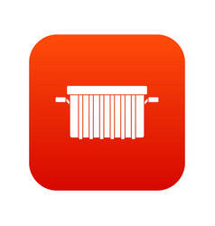 Garbage tank icon digital red vector
