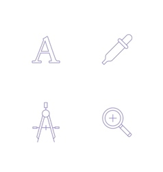 graphics designer tool icon vector image