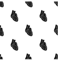 human heart icon in black style isolated on white vector image vector image