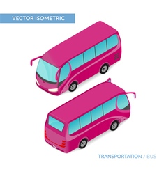 Isometric tourist bus vector image