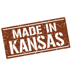 Made in kansas stamp vector