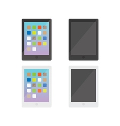 Modern electronic tablets gadgets group vector