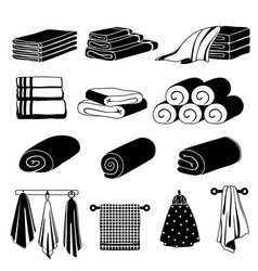 monochrome of different towels vector image vector image