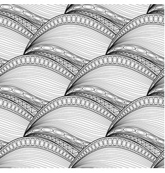 monochrome wave seamless pattern vector image