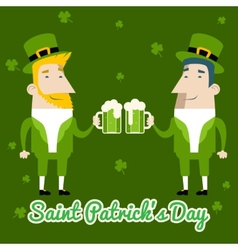 Saint Patricks Day Celebration Cartoon Characters vector image