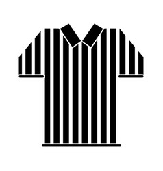 Silhouette referee jersey stripes american vector