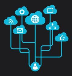 Social Media inforgraphic vector image