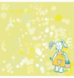 summertime bunny vector image