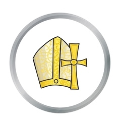 Vatican symbols icon in cartoon style isolated on vector