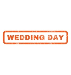 Wedding day rubber stamp vector