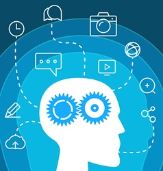 Workflow Social media concept vector image vector image