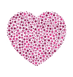 Heart mosaic of dots vector