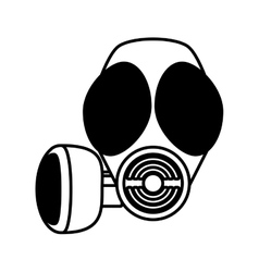 outline gas mask respiration protective vector image
