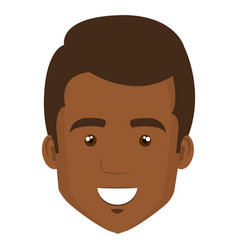 young black man casual avatar vector image