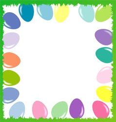 Easter background with eggs 2d vector