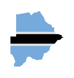 Map and flag of Botswana vector image