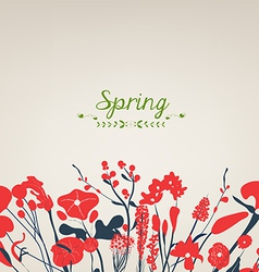 Happy spring flower vintage vector