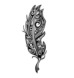 Feather tattoo vector