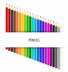 Colour pencils on white background vector