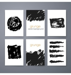 Set of grunge brush strokes brush vector