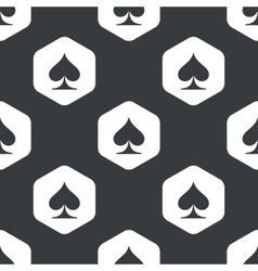 Black hexagon spades pattern vector