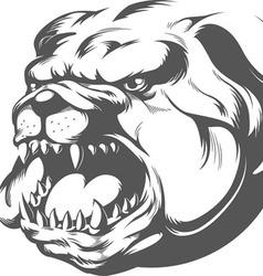 Bull dog silhouette vector