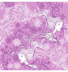 feminine floral seamless pattern vector image
