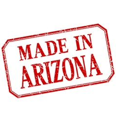 Arizona - made in red vintage isolated label vector