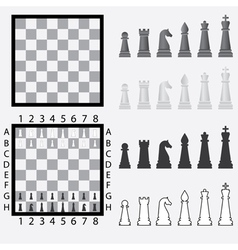 Chessboard with pieces vector image