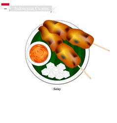 Satay or indonesian style barbecue vector