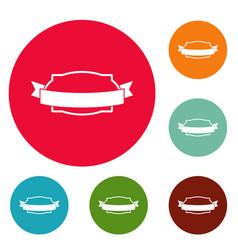 badge stamp icons circle set vector image