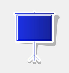Blank projection screen new year bluish vector
