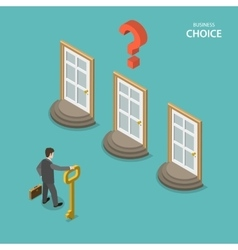 Business choice isometric flat concept vector image vector image