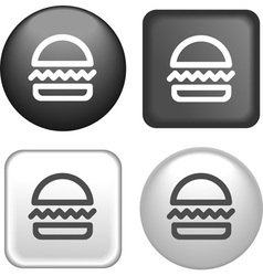 button hamburger vector image