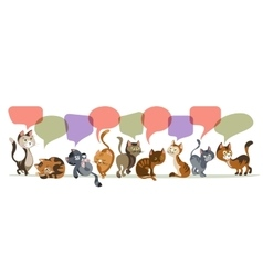 Chatting Kittens Composition vector image