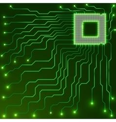 Cpu Microprocessor Microchip Circuit board vector image vector image