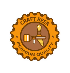 craft beer premium quality logotype design vector image vector image
