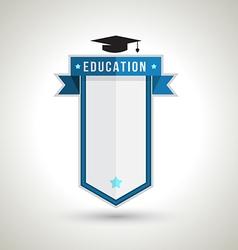 Education badge design vector