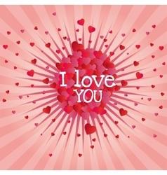 explosion hearts love image design vector image vector image