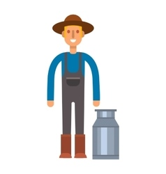 Farmers milk can vector image