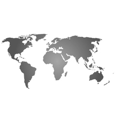 Grey silhouette of world map vector image vector image