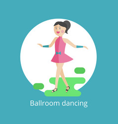 Icon of ballroom dances vector