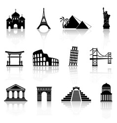 Landmarks icons vector