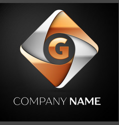 letter g logo symbol in the colorful rhombus on vector image