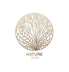 logo flower with line petals vector image