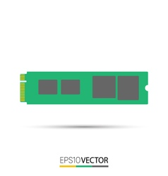 M2 solid state drive vector