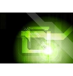 Modern technical green background vector